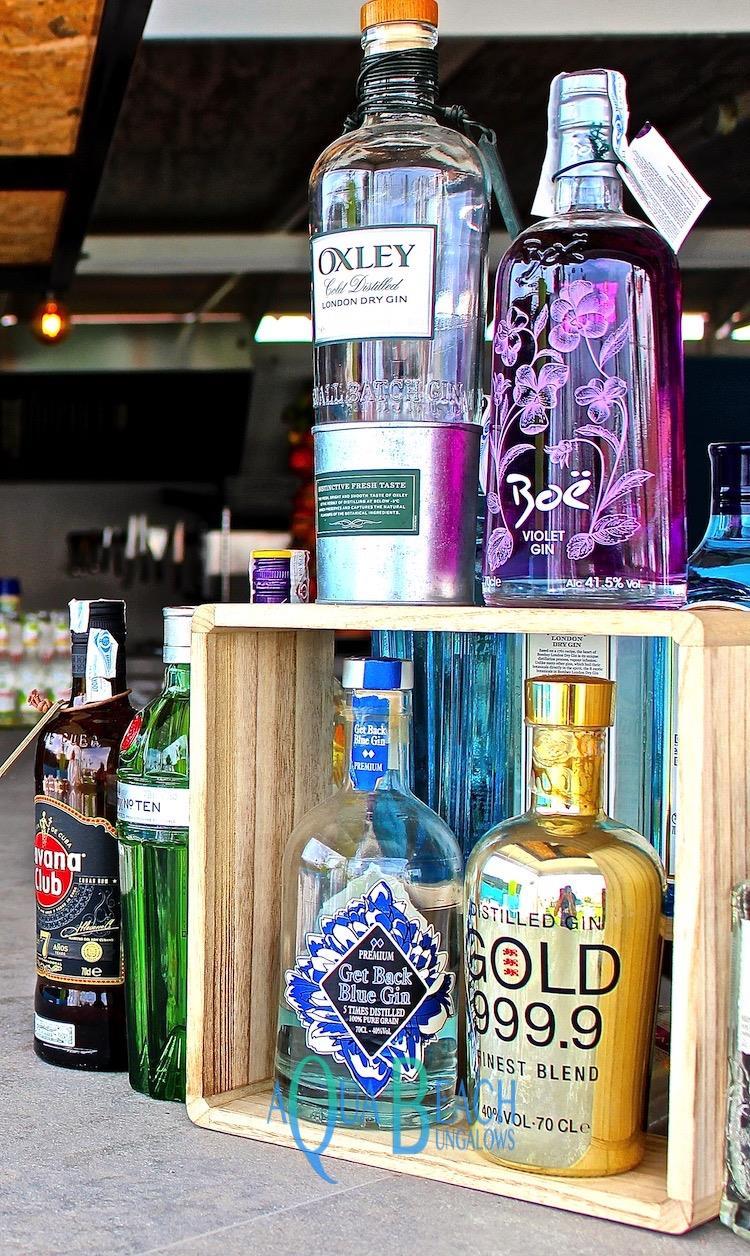 Gin Cafe gran canaria. Aqua Beach Bungalows bar drank