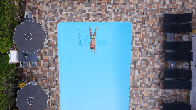 Gay Resort Hotel Club torso Gran Canaria zwembad luchtfoto