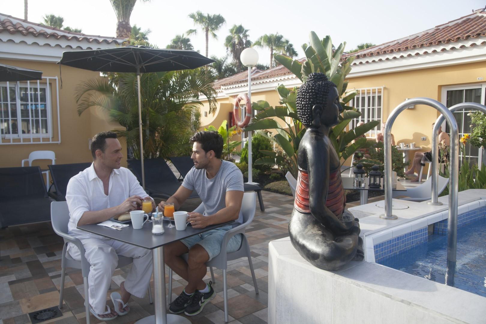 Gay Resort Hotel Club torso Gran Canaria ontbijt zwembad