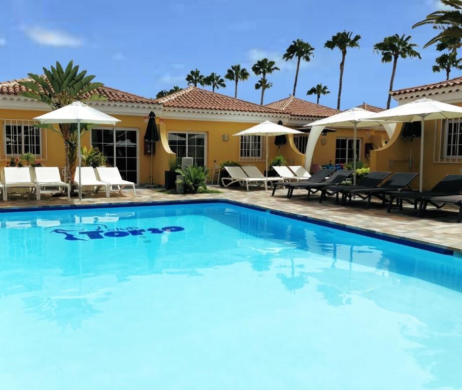 Gay Resorts maspalomas Hotel Club torso Gran Canaria zwembad overzicht