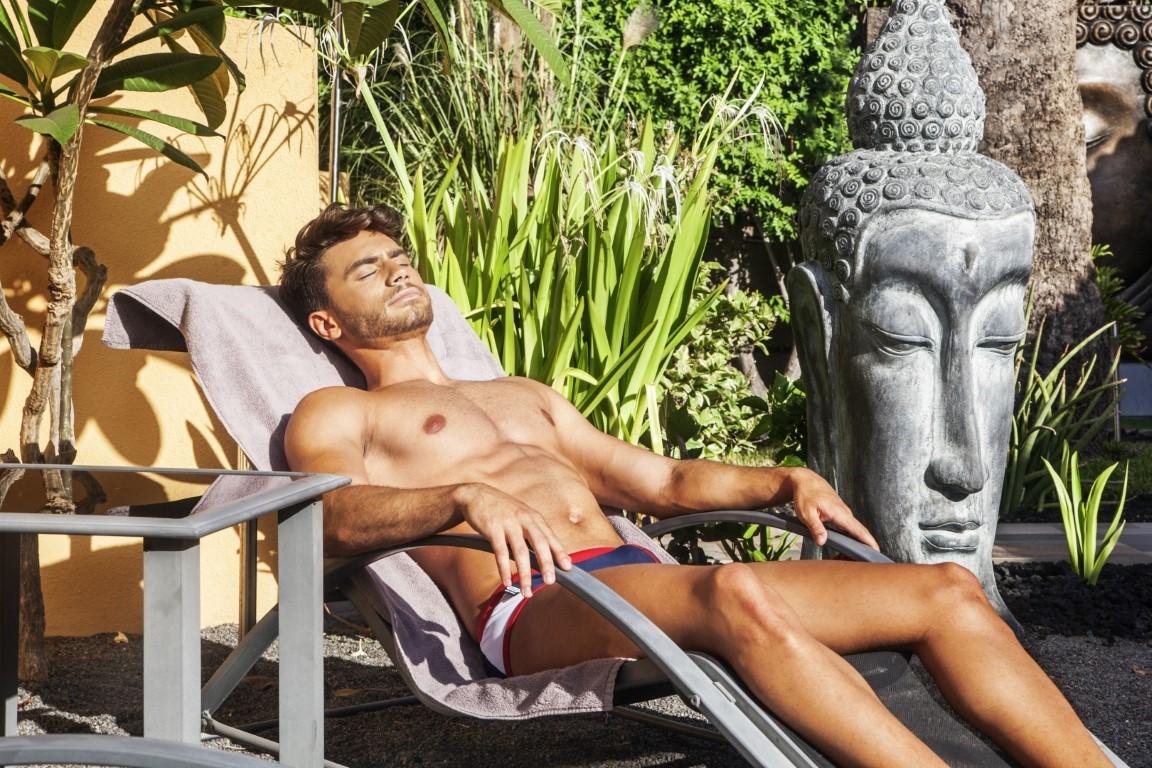 Gay, Resort, maspalomas, Hotel, Club torso, Gran Canaria, tuin, ligplek,