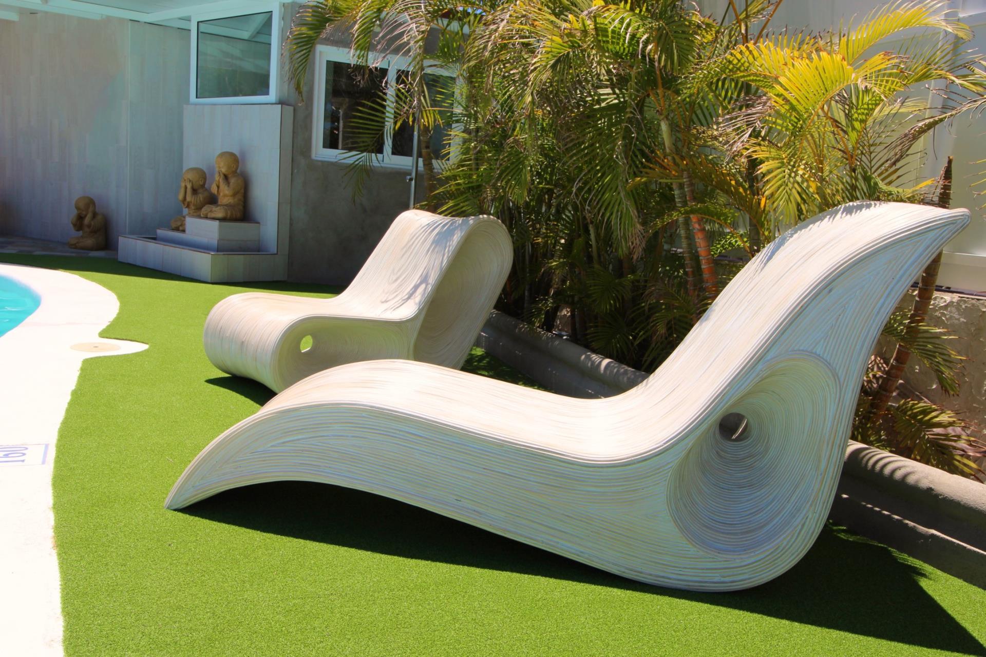 Ligstoelen van Naturisten hotel Artika Natura Gran Canaria
