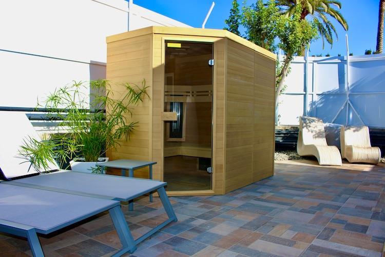 Naturisten Hotel Artika Natura Gran Canaria sauna met ligweide
