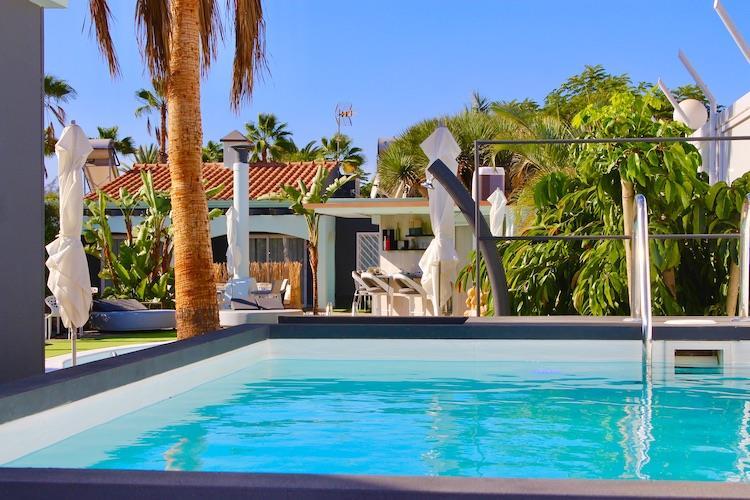 Naturisten Hotel Artika Natura Gran Canaria overzicht met zwembad