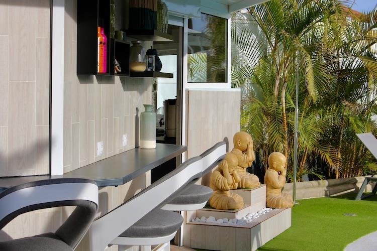 Naturisten Hotel Artika Natura Gran Canaria zitplek bij Bar