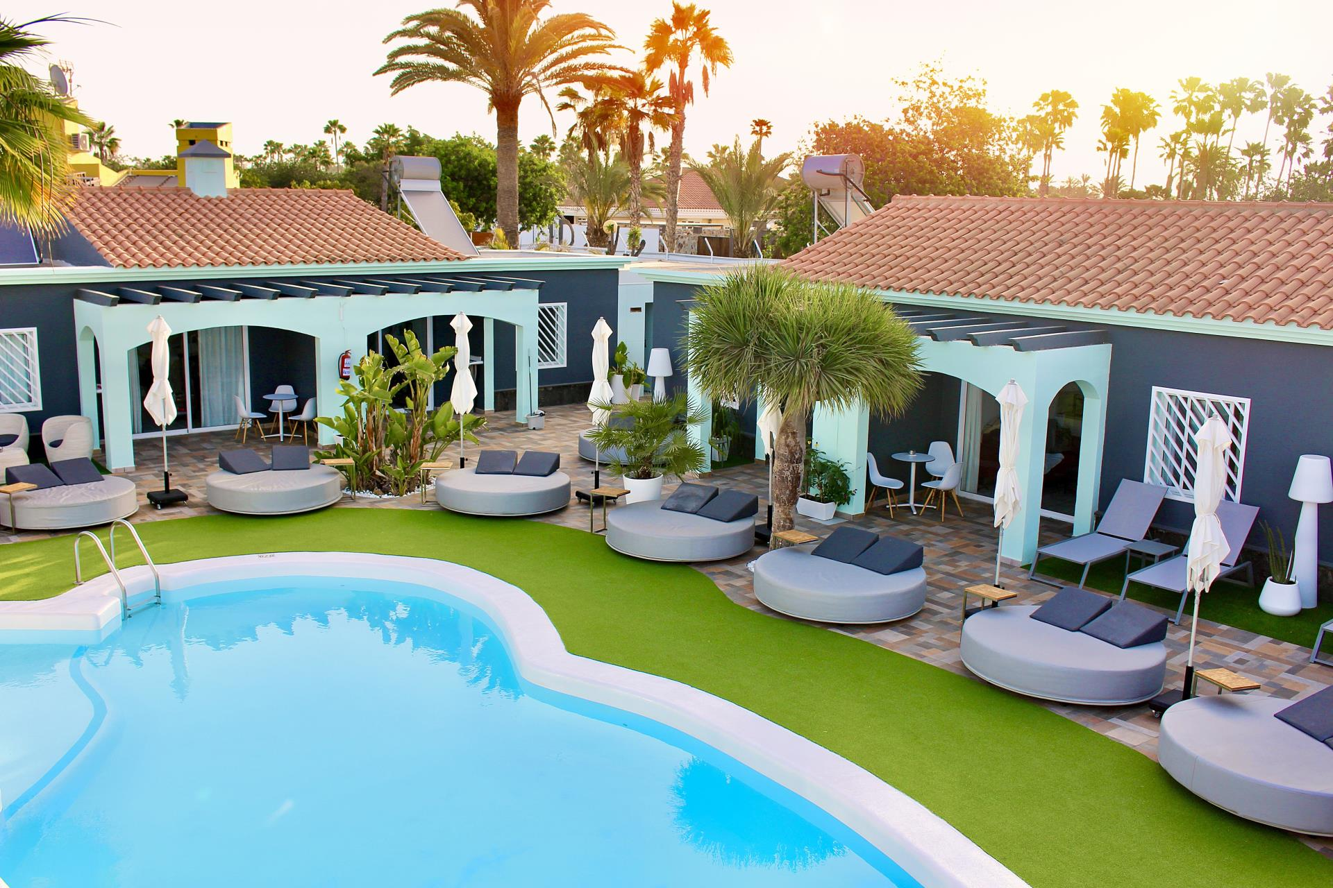 Naturisten Hotel Artika Natura Gran Canaria overzicht zwembad