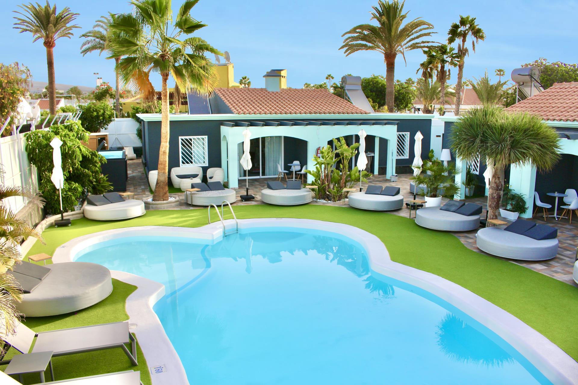 Naturisten Hotel Artika Natura Gran Canaria maspalomas overzicht zwembad